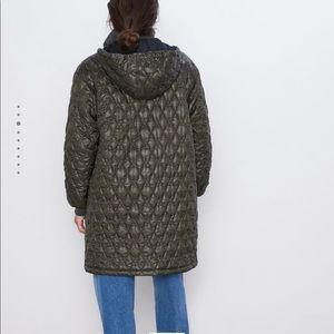 Zara Hooded Puffer Jacket NWT
